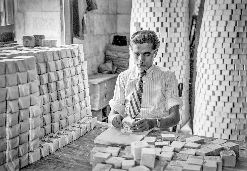 Soap factory in Nablus. 1940