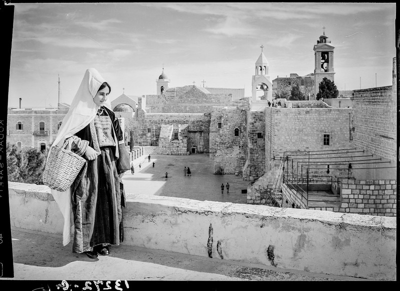 Church of the Nativity in Bethlehem. 1945