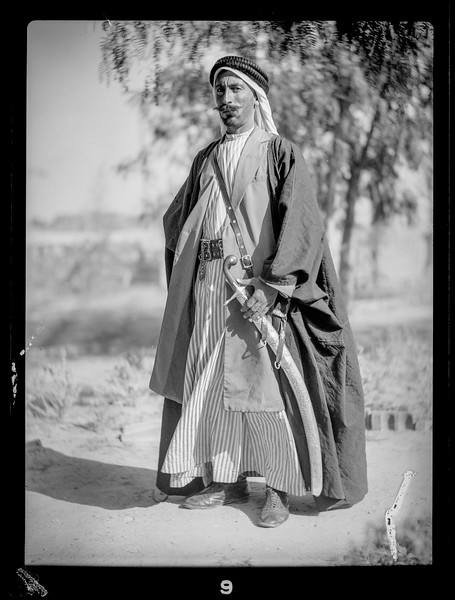 177.  Aref El Aref and Bedouin sheikhs. 1932