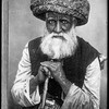 A Moslem (Muslim) chief.  Sheikh of the Palestine desert.  1909-1919