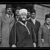 Palestine resistence. The Grand Mufti. Haj Amin eff. el-Husseini, with attendants, leaving the offices of the Palestine Royal Commission after giving his evidence.  1937