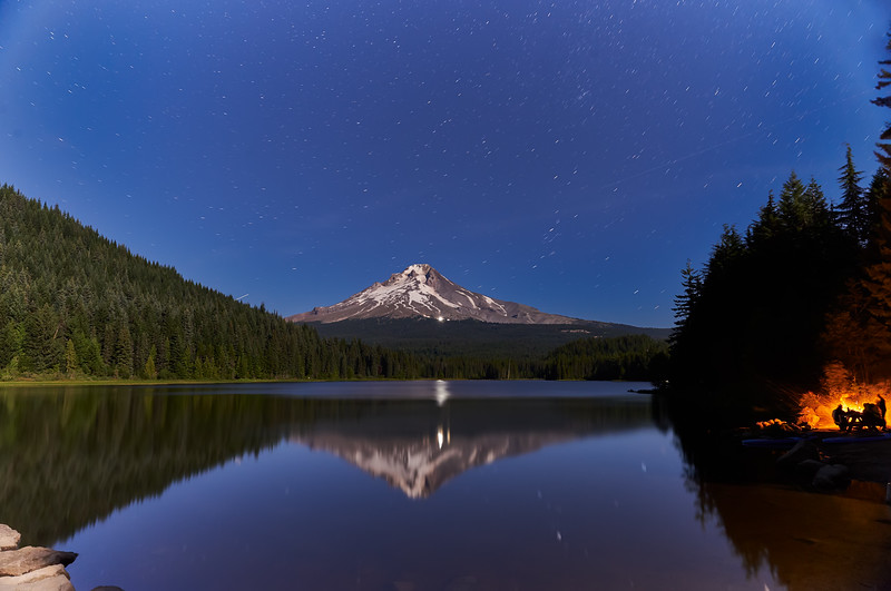 Trillium Lake, Fire Camp