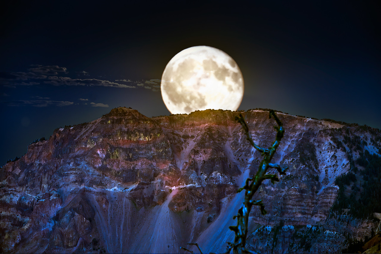 Crater Lake's Moon