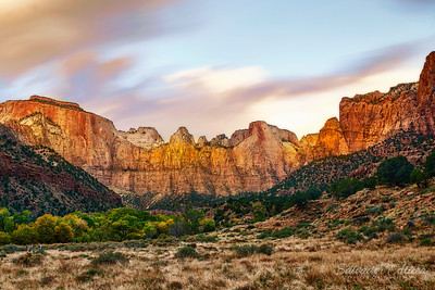 West Temple and The Towers of The Virgin - Zion Canyon