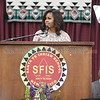 First Lady Michelle Obama addresses the Santa Fe Indian School Graduating Class of 2016 on Thusday, May 26, 2016. Luis Sánchez Saturno/The New Mexican
