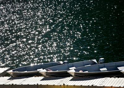 Canoes On at Crowley Lake