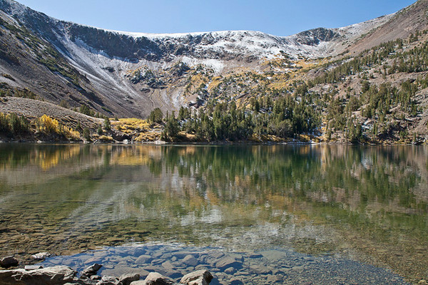 Little Virginia Lake With Fall Snow