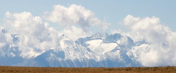 Sierra Glaciers Among Clouds