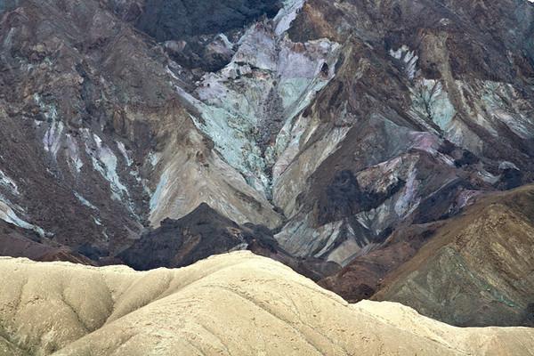 Zabriskie Point #0584  Color in the Black Mountain Range.