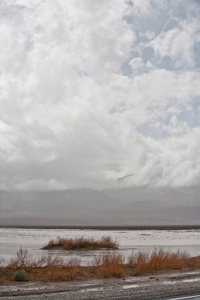 Rainy Day, Panamint Valley #0835  Storm beginning to break, but more rain will come in later.