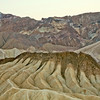 Zabriskie Point #0175  Convoluted landscape toward Black Mountain Range.