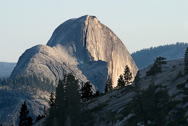 Half Dome Evening From Oldmstead Point, Tioga Road