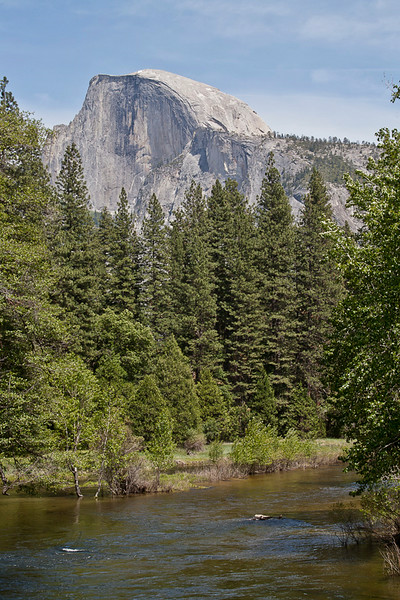 Half Dome Above The Merced