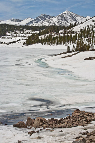 Tioga Lake Under Ice & Show in May