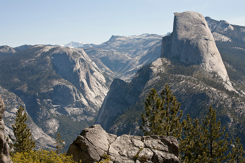 Half Dome Profile From Glacier Point
