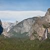 Bridal Veil, Half Dome, El Capitan