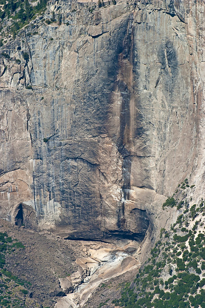Upper Yosemite Falls Without A Drop Of Water (In a Dry September)