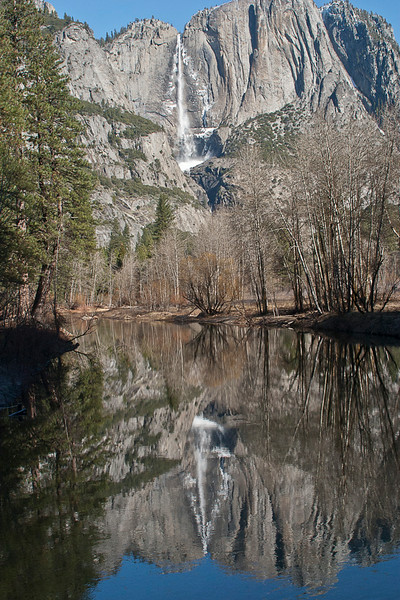 Yosemite Falls Reflection, Merced River