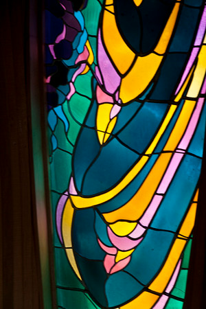 Stained Glass At Memorial Chapel