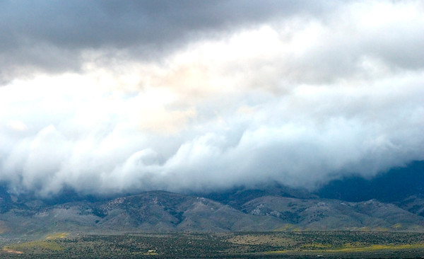 And A Mighty Cloud Descended (Tehachapi Range From Highway 138)