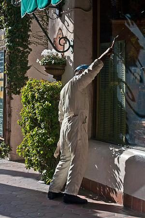 Lifelike Sculpture in Old District, Santa Barbara