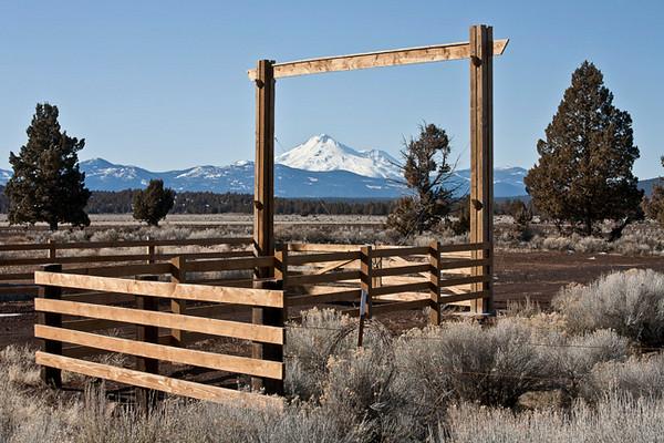 Mt. Shasta Through The Gate