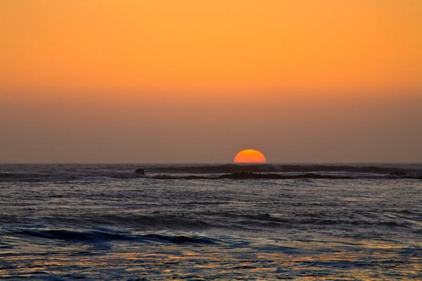 The Sun Swimming