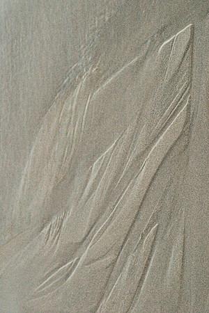 Prayer, Bowling Ball Beach Sand Abstract #2266