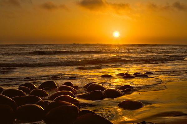 A Golden Seascape, Bowling Ball Beach