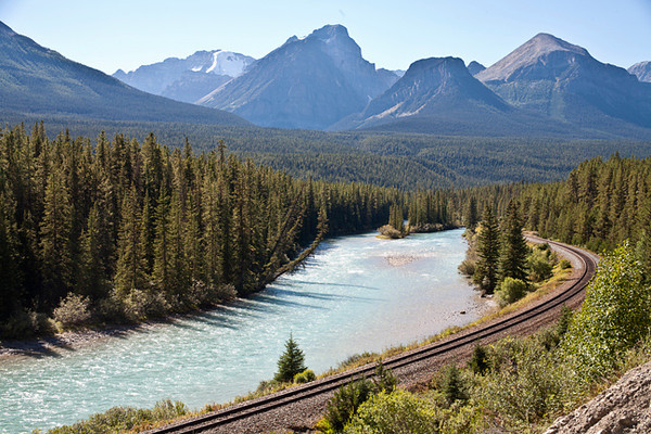 Bow River Train Tracks