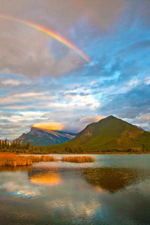 Vermillion Lakes Rainbow
