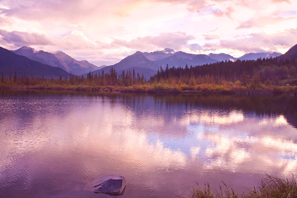 As Evening Falls Softly I (Vermillion Lakes)