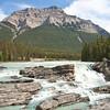 Start of Athabasca Falls with Mt. Kerkeslin Beyond