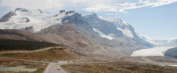 Athabasca Glacier & Bit of Columbia Icefield
