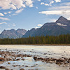 Athabasca River Toward Sunset