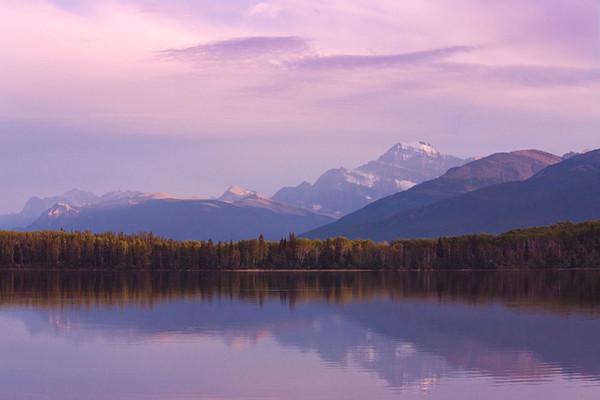 As Evening Falls Softly II  (Pyramid Lake Toward Mt. Edith Cavell)
