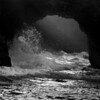 Sea Cave Dynamics (B&W version-Mendocino Coast)