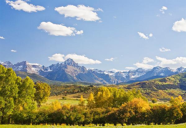 Sneffles Range with Autumn Snow