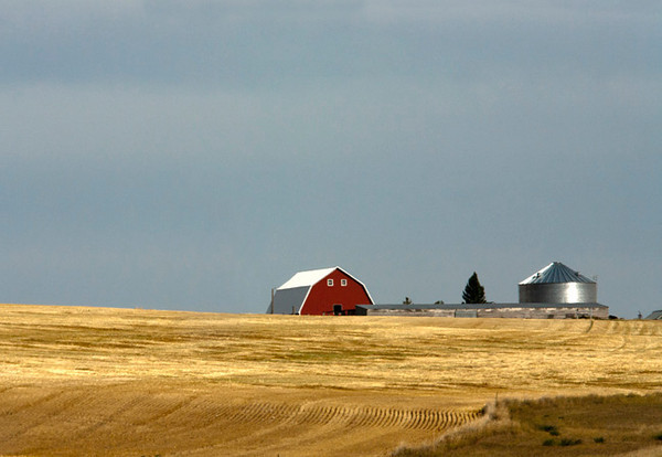 The Red Barn On The Hill