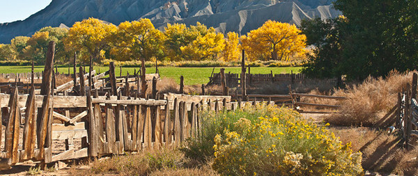 Where Have All The Farmer's Gone? (Abandoned Farm at Cainville Near Capitol Reef NP)