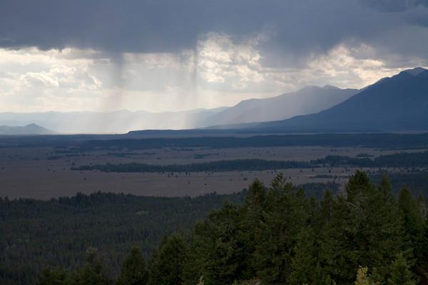 Watching Rain Over Jackson Hole