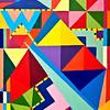Jubilant Geometric (acrylic)