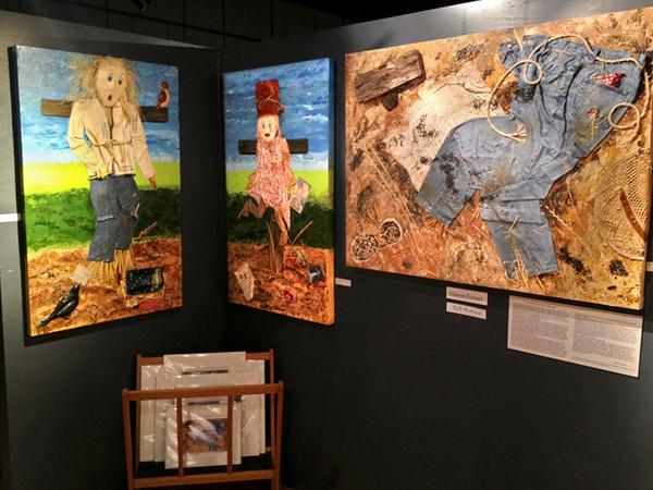 """The Secret Desires of Scarecrows"" shown at Riverfront Art Gallery, Petaluma, CA"