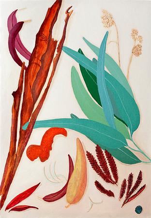 Eucalyptus Still Life With Tangerine Peel