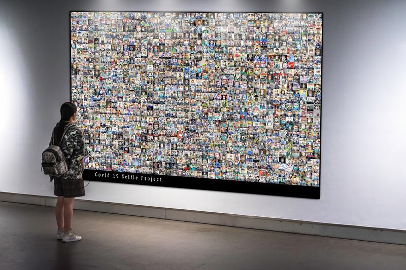 girl in gallery