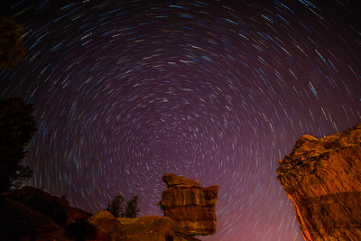 Star Trails, Garden of the Gods, Colorado