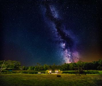 Milky Way over Pond