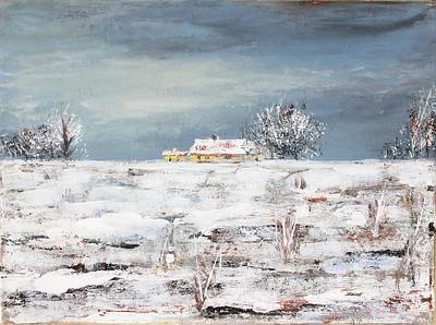 Grange In Winter