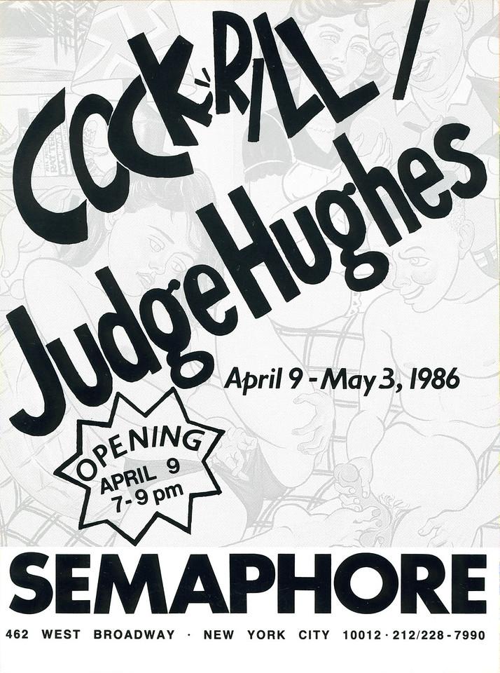 Family Life: The Postwar Years, Cockrill/Judge Hughes Opening at Semaphore, SoHo, New York City, 1986 -Invite Side 2