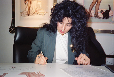Olivia: Let Them Eat Cheesecake Poster Signing, Los Angeles, 1990 - 4 of 4